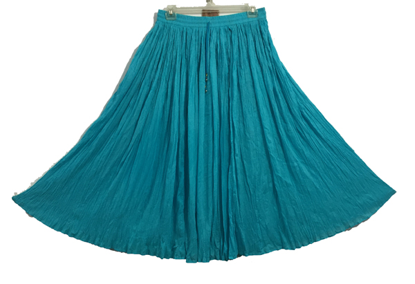 Turquoise Broomstick Skirt