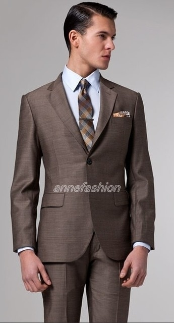 Free shipping Italian high quality worsted pure Wool suit Men