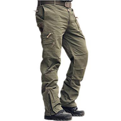 Amazon.com: sunsnow Men's 101 Airborne Cargo Pants Multi-Pockets