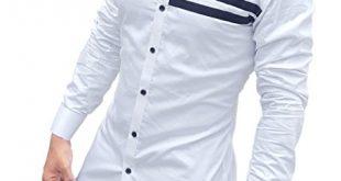 S.N. Men's Cotton Casual Long Sleeves Slim Fit Shirt - MegaShopy