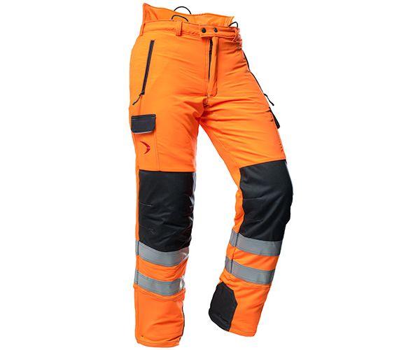 Pfanner Arborist chainsaw trousers hi-viz Orange GO/RT Type C u2013 FR