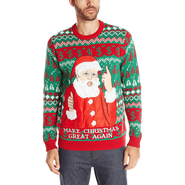 Men's Santa Trump MAGA Ugly Christmas Sweater | American AF - AAF Nation