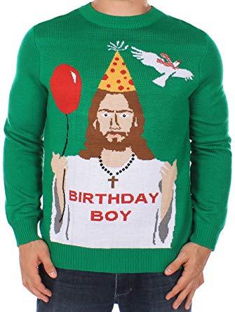 Amazon.com: Tipsy Elves Men's Ugly Christmas Sweater - Happy