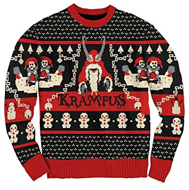 Amazon.com: Ripple Junction Krampus Knit Ugly Christmas Sweater