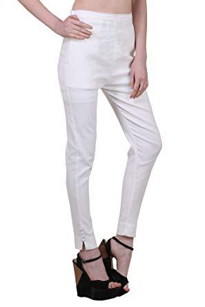 Shararat Women's Slim FIt Cigarette Pants (6977_28_White): Amazon.in
