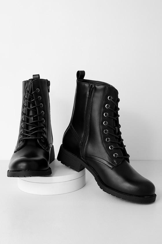 Cute Black Boots - Combat Boots - Black Combat Boots