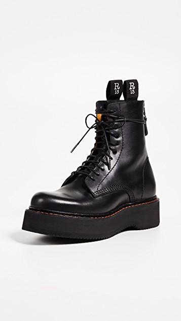 R13 Platform Combat Boots   SHOPBOP