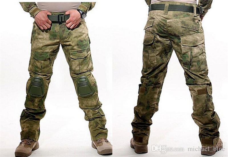 Tactical Combat Pants Multicam Frog Uniform Trousers Camouflage Army