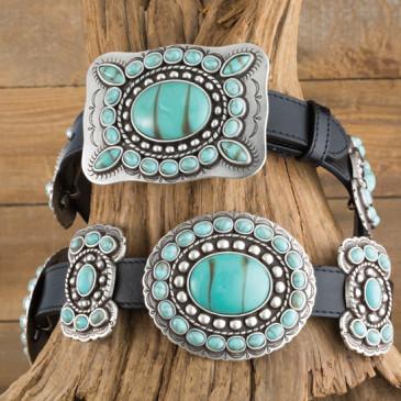 Angel Ranch Talimena Turquoise Concho Belt