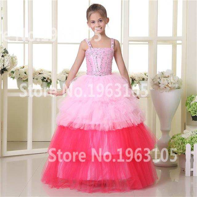 2017 Beautiful Princess Colorful Girls First Holy Communion Dresses