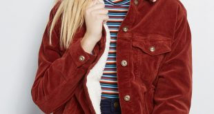 Timely Travel Corduroy Jacket in Rust Red   ModCloth