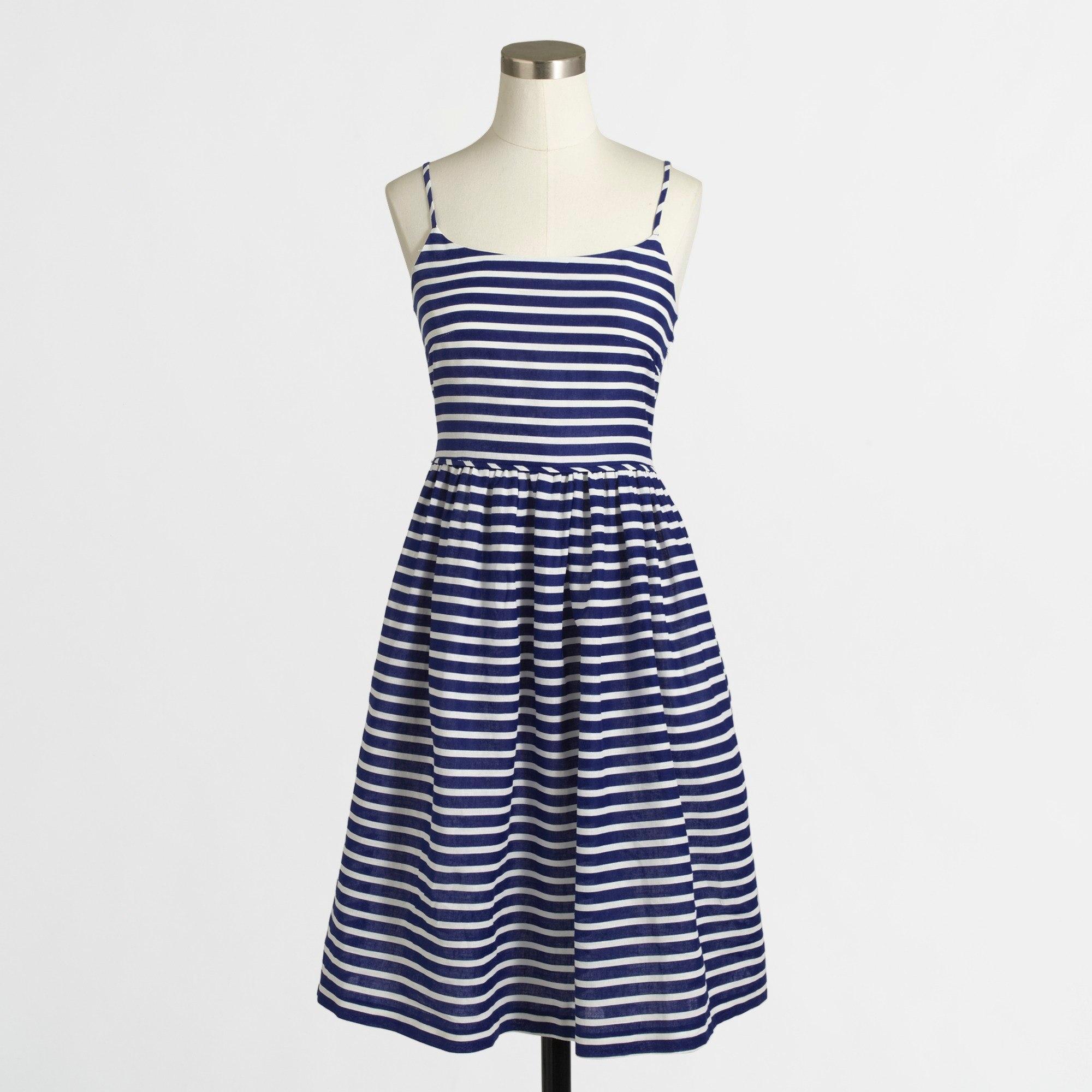 Women's stripe linen-cotton sundress - Women Dresses   J.Crew Factory