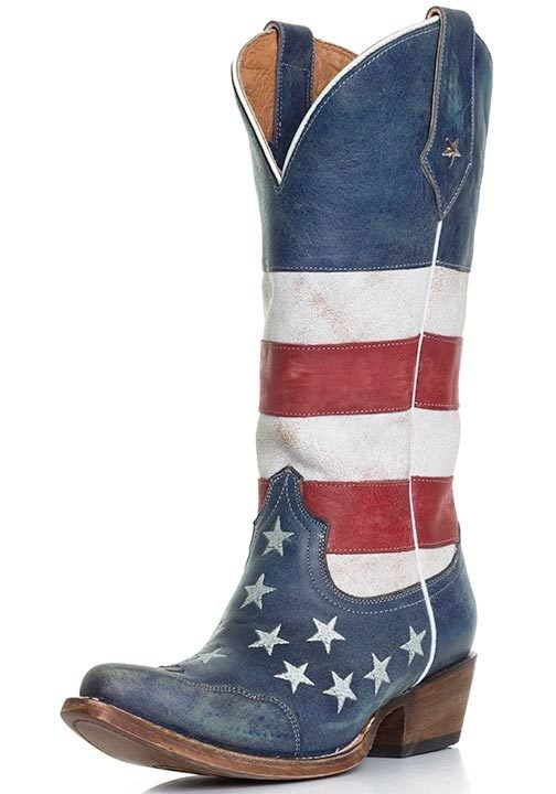 Roper Women's American Flag Snip Toe Cowboy Boots