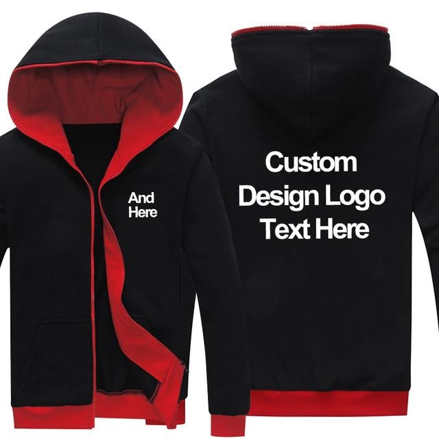 Drop Shipping Zipper Hoodies LOGO custom made Fashion Hoodies