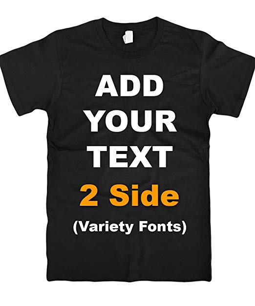 Amazon.com: Custom T Shirts Front & Back Add Your Text Ultra Soft