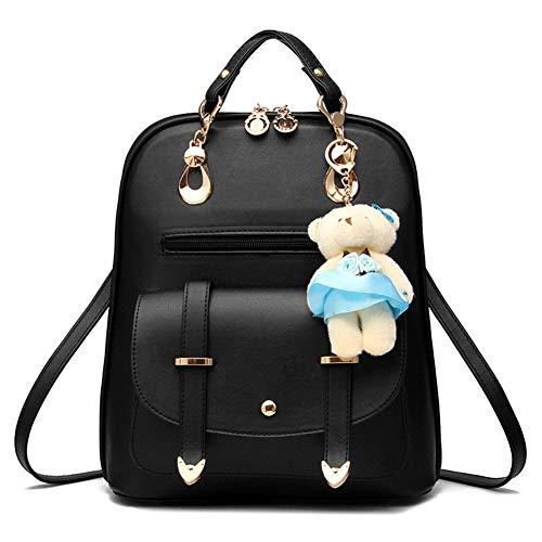 Hynbase Women's Summer Cute Korean Leather Student Bag Backpack