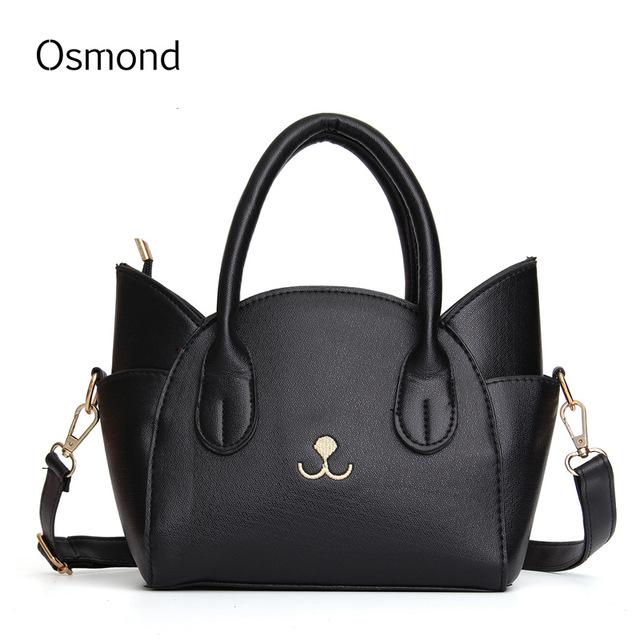 Osmond 2018 Mini Cat Handbag Cute Baobao Small Tote Cat Bags Pink