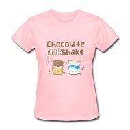 Rusty Doodle   Cute Chocolate Milkshake Womens T-Shirts - Womens T-Shirt