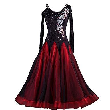 Amazon.com: YC WELL Ballroom Dance Dresses Rhinestone Competition