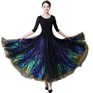 Amazon.com: NAKOKOU Women Ballroom Dance Dress Standard Dance