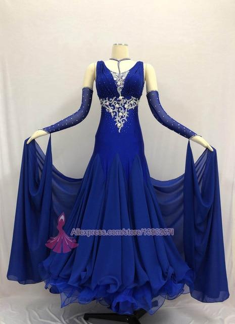 Ballroom Competition Dance Dress Women High Quality Spendex Flamenco