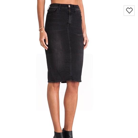 McGuire Denim Skirts | Mcguire Black Denim Pencil Skirt | Poshmark