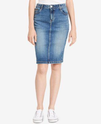 Calvin Klein Jeans Denim Pencil Skirt - Skirts - Women - Macy's