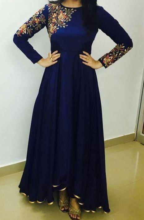 FatimaBi Plus size Fashion Indian Designer Engagement Blue Anarkali