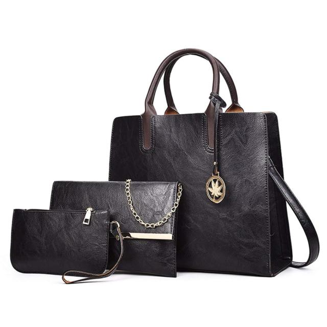 DESIGNER Purses and Handbags Sets for Women Leather Satchel Tote