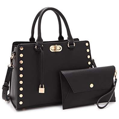 Designer Handbags Purses For Women Tassel Lock Satchel Bags Top