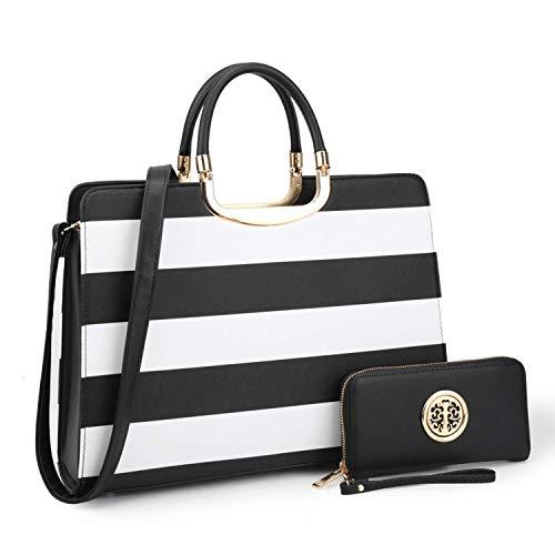 Black and Pink Designer Handbags: Amazon.com
