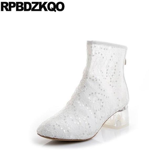 2018 glitter bling summer designer white short sequin clear women