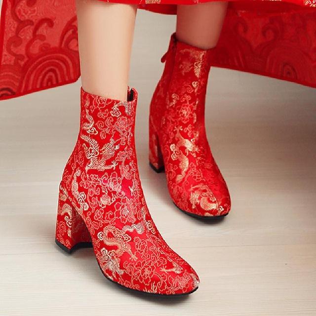 SALCXO ankle boots for women wedding shoes designer winter boots
