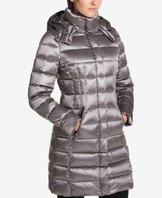 DKNY Seamed Down Puffer Coat - Coats - Women - Macy's