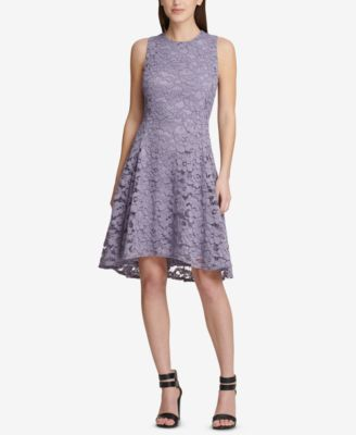 DKNY Lace Fit & Flare Dress, Created for Macy's - Dresses - Women