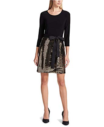 DKNY Women's Sequined Bow Party Dress at Amazon Women's Clothing store: