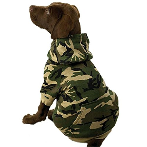 Amazon.com : Casual Canine Camo Hoodie for Dogs, 17