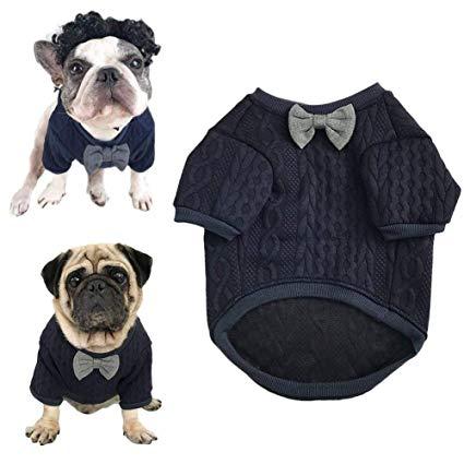 Amazon.com : Meioro Dog Sweater Pet Bow Tie Clothes Pet Clothing