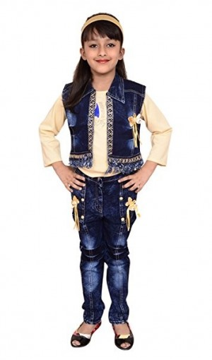 Dresses Tops Jeans - Arshia fashions girls dress top and jeans with