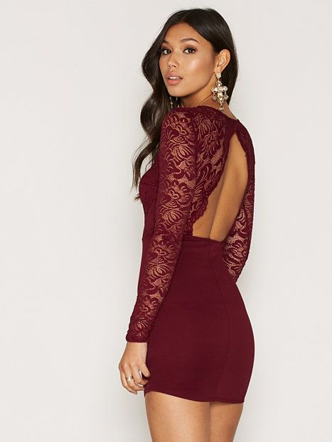 Scallop Open Back Bodycon | Red Dress in 2019 | Pinterest | Dresses