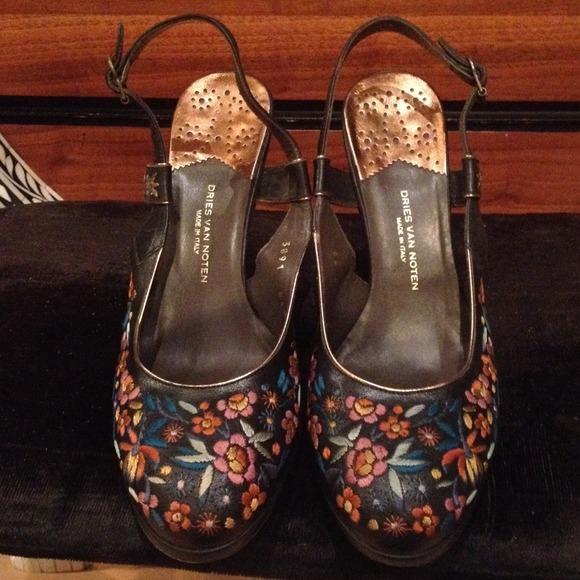 dries Van noten Shoes   Embroidered Sling Backs   Poshmark