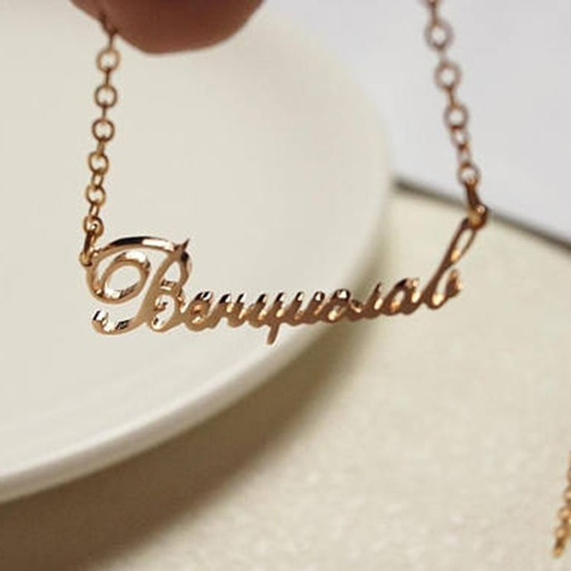 GORGEOUS TALE New Design Pesonalized Name Fashion Jewelry Best Gift