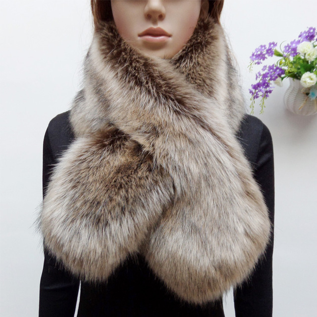 new arrival winter faux raccoon fur scarf fake fox fur muffler women