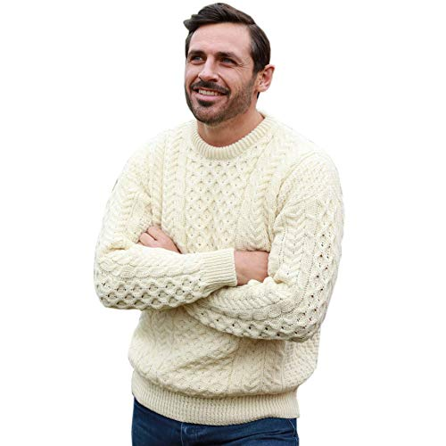 Men's Fisherman Sweater: Amazon.com