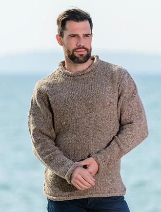Mens wool sweaters, Irish fisherman sweater, Irish sweaters