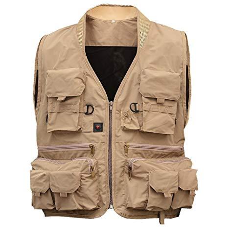 Amazon.com : Isafish Fly Fishing Vest Men's Multifunction Pockets