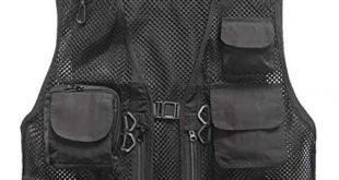 Amazon.com : Marsway Outdoor Quick-Dry Fishing Vest Multi Pockets