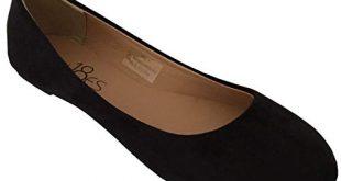 Amazon.com   Shoes 18 Womens Classic Round Toe Ballerina Ballet Flat