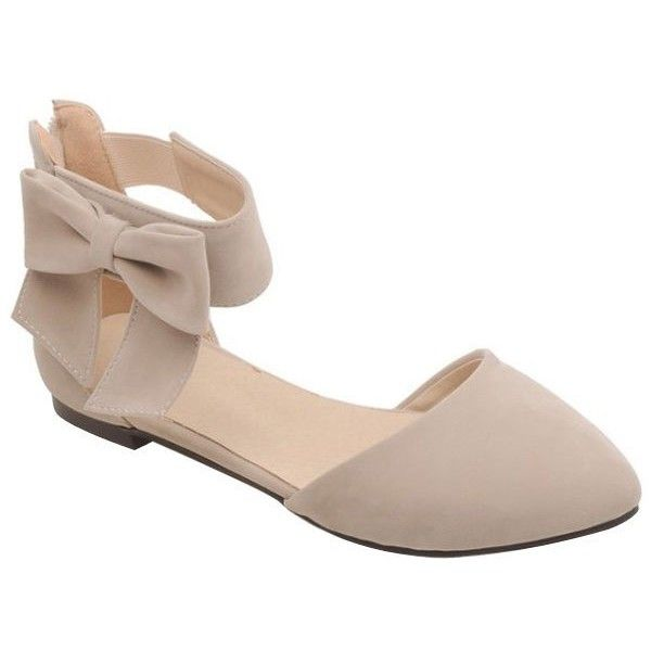 Elegant Bow and Zipper Design Flat Shoes For Women ($23) ❤ liked on