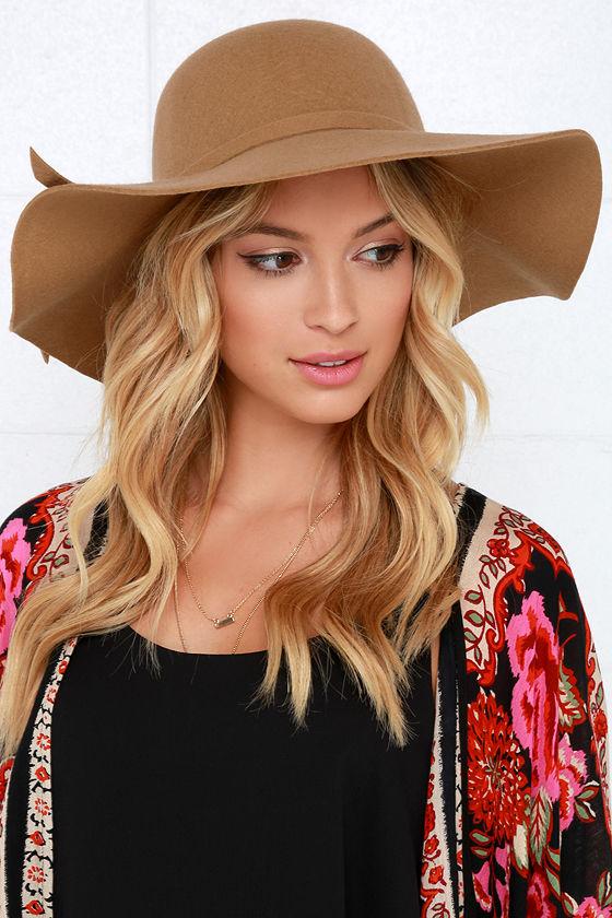 Tan Hat - Wool Hat - Floppy Hat - $27.00
